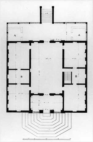 Villa Caldogno plan