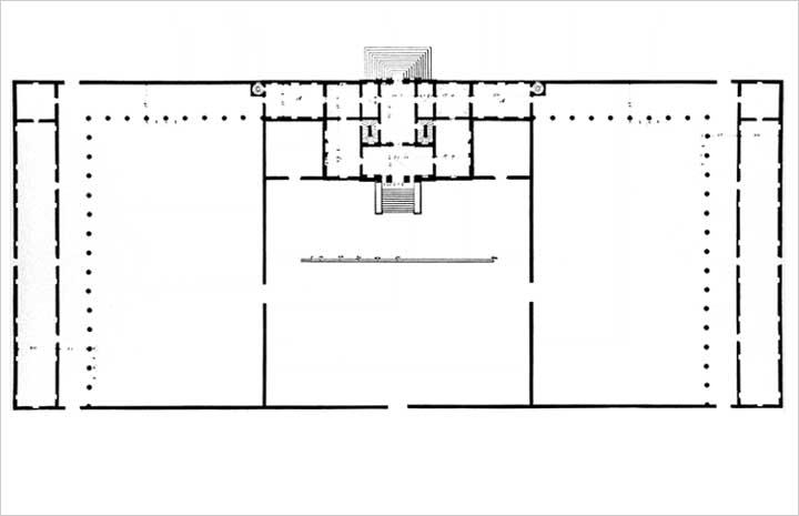 Villa Poiana - Plan