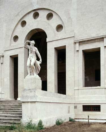 Villa Poiana - Detail of the façade