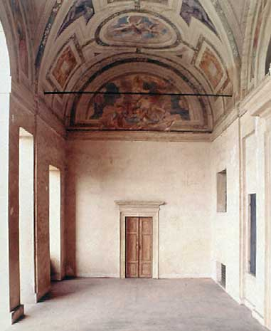 Villa Poiana - Interior of the loggia