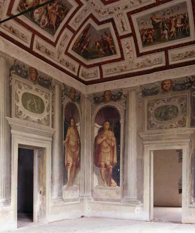 Detail of the Sala degli Imperatori