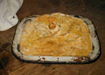 Delicious rabbit pie